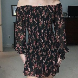Forever 21 fitted long sleeve dress